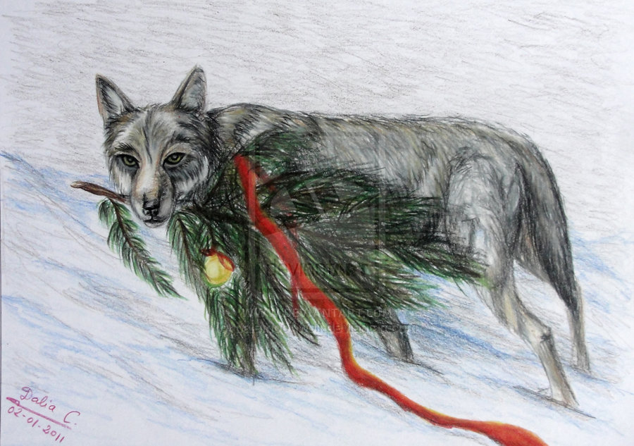 christmas_wolf_by_palemoonwolf-d36jhcb